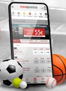 Aplicación móvil: Código promocional Marca Apuestas